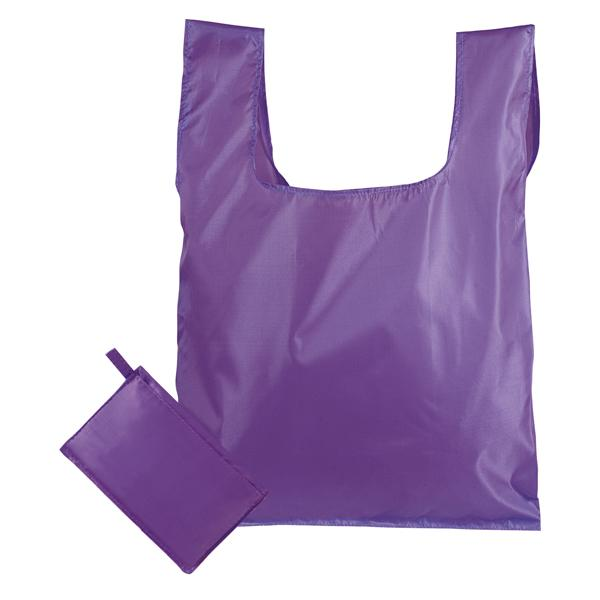 769 PR - Borsa shopping ripiegabile in pochette viola